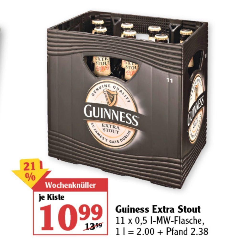 Guinness Extra Stout 11x0,5l Globus ab 15.03 und verschiedene Biersorten Kiste reduziert 20-33%