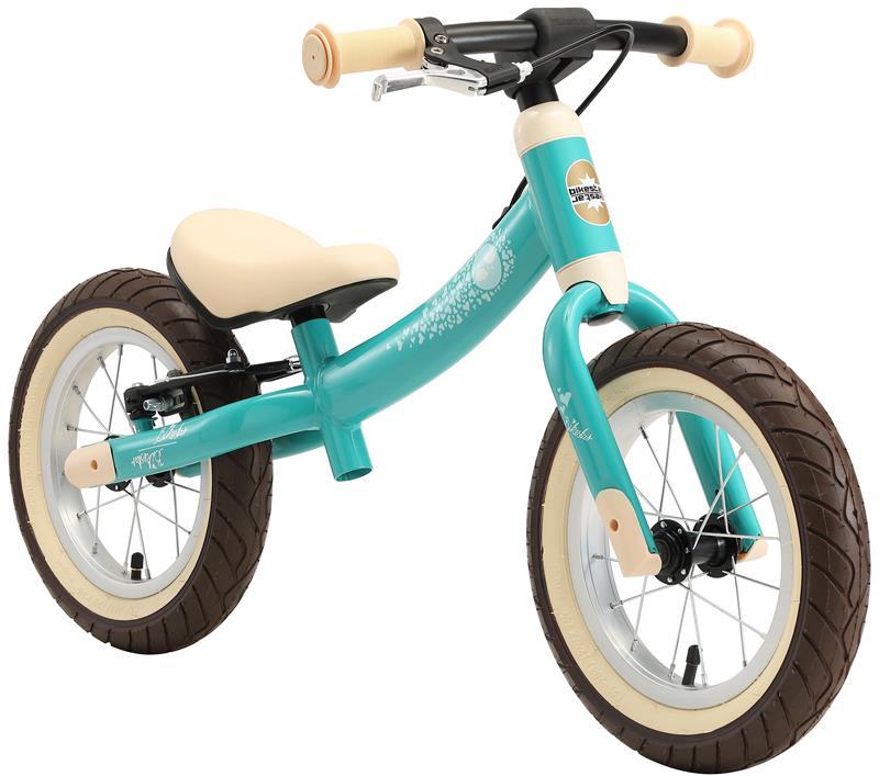 BIKESTAR Kinder Laufrad Lauflernrad Kinderrad für Jungen und Mädchen ab 3 - 4 Jahre | 12 Zoll Sport Kinderlaufrad türkis