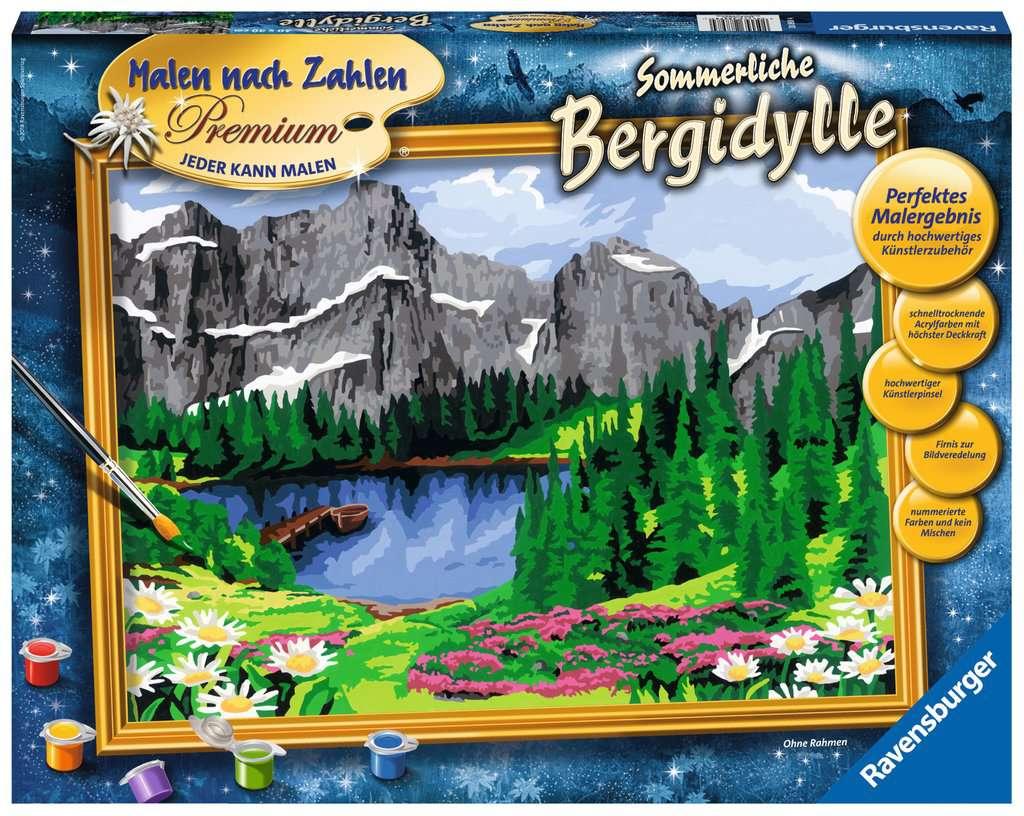 20% auf alle Ravensburger Malen nach Zahlen Malsets z.B. 28898 Sommerliche Bergidylle für 22,99€ durch Newsletter-Gutschein