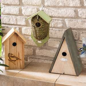 Bestpreis: [Norma] Nistkasten für Vögel / Vogelhaus aus FSC-Holz oder Seegras - Verschiedene Ausführungen