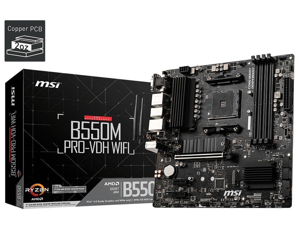 MSI B550M PRO-VDH WIFI AM4
