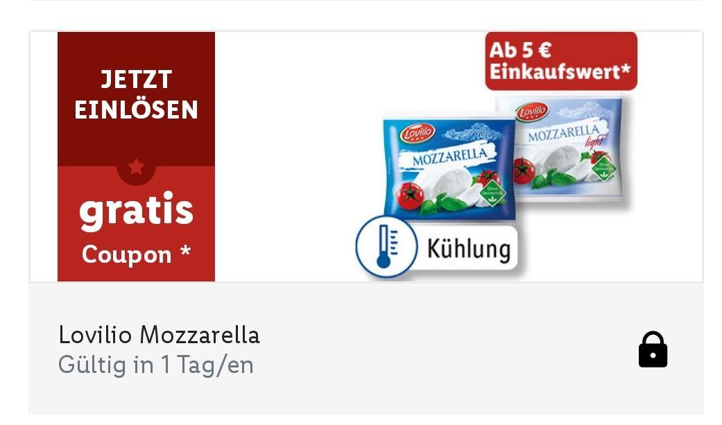 (Lidl Plus App) Lovilio Mozzarella ab 5€ Einkaufswert gratis