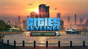 Cities: Skylines - Sunset Harbor DLC [Steam] 3,34€-5% – Campus DLC für 2,59€, Parklife DLC 3,29€, …