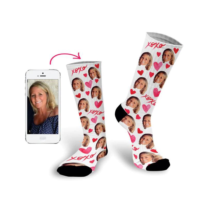 Weihnachtsgeschenke für die Schwiegermutter - Individuell Socken (bedruckbar)