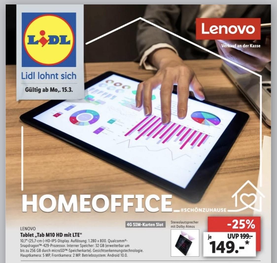 [Lidl] Lenovo Tab M10 HD LTE