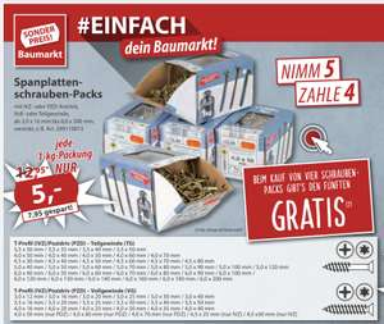 Spanplattenschrauben-Packs von Fishbull mit TX/PZ Antrieb