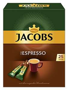 Jacobs Espresso Sticks 4 x 25-er Packung bei Amazon im Sparabo, 1,13€ pro Packung