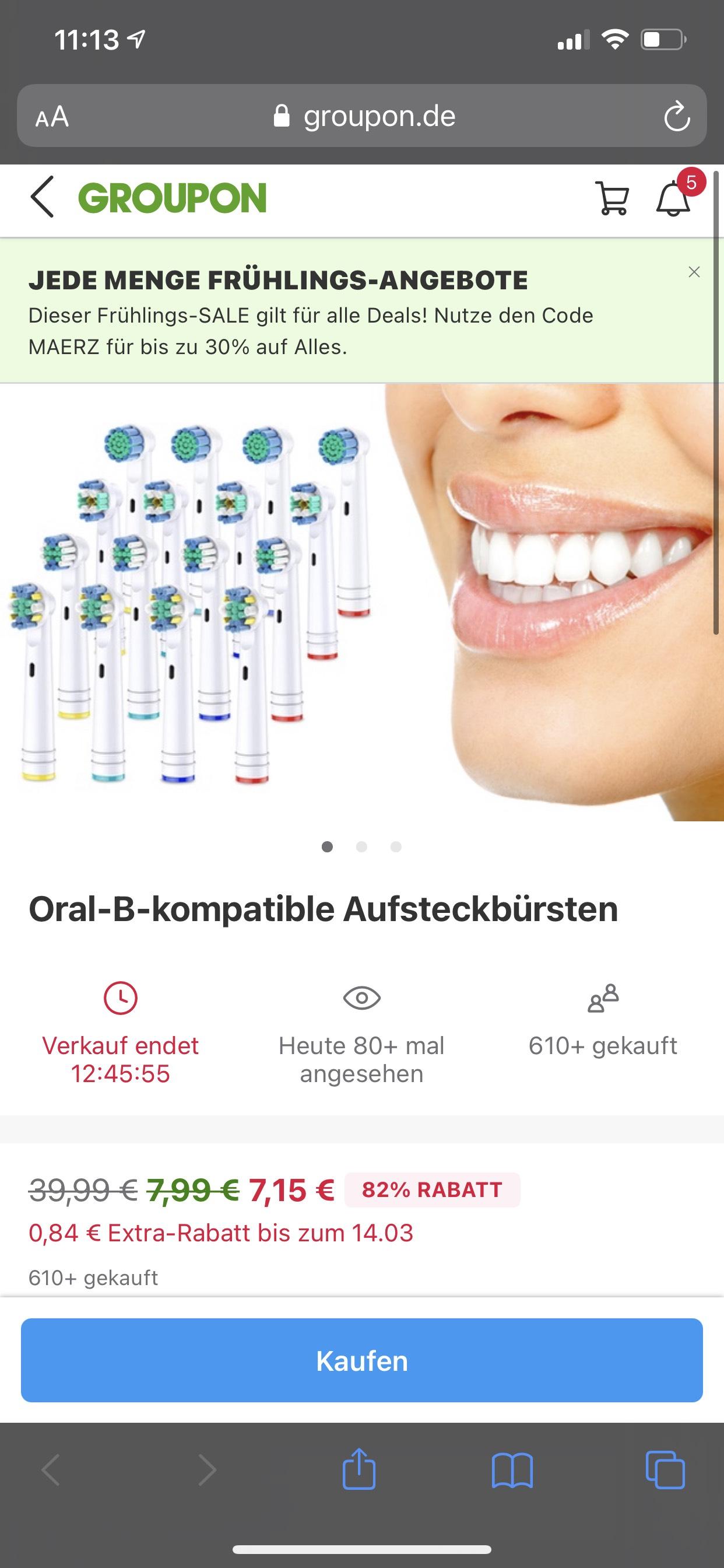 Oral-B kompatible Aufsteckbürsten