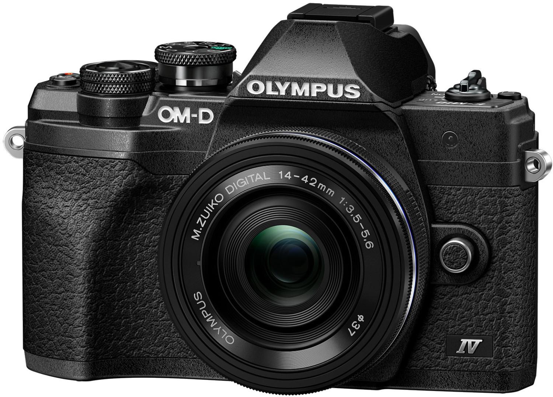 Olympus OM-D E-M10 Mark IV MFT Systemkamera + M.Zuiko 14-42mm F3.5-5.6 EZ Objektiv