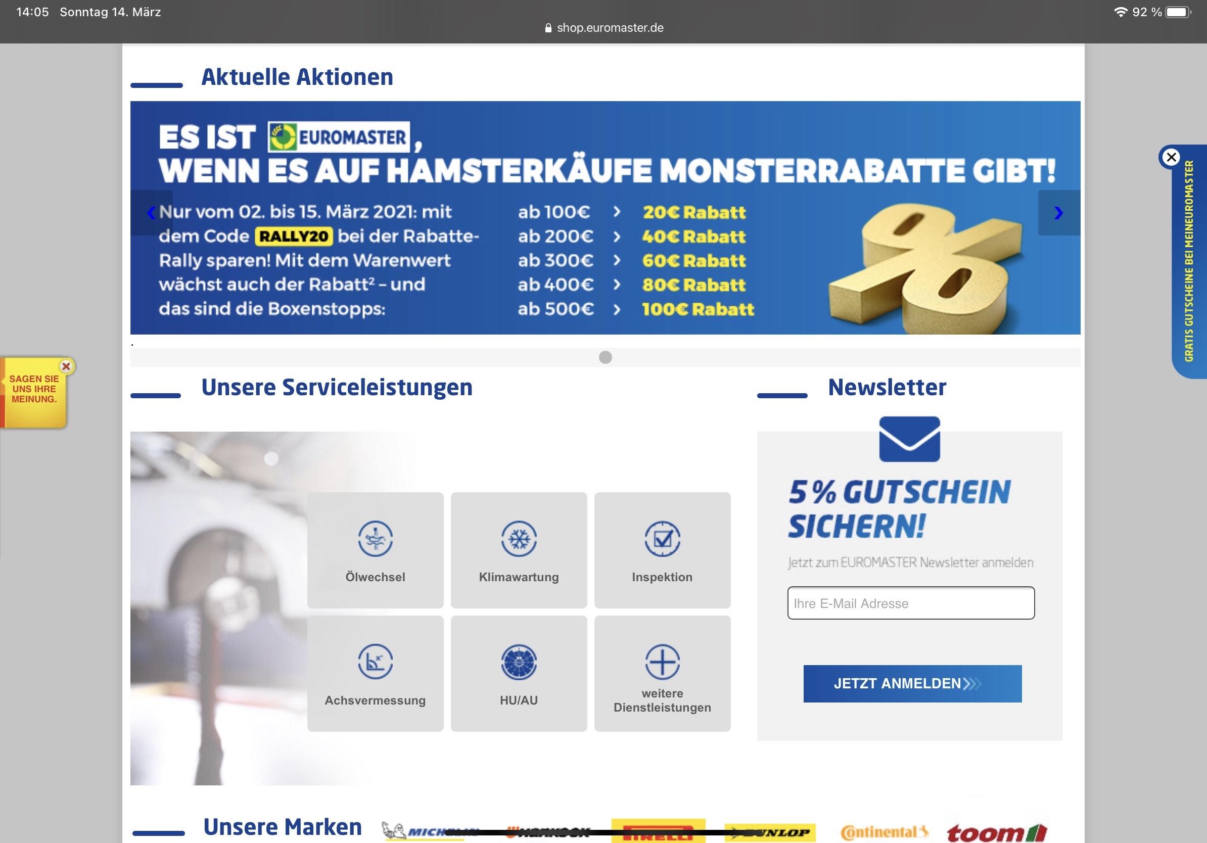 Euromaster Reifen Gutschein