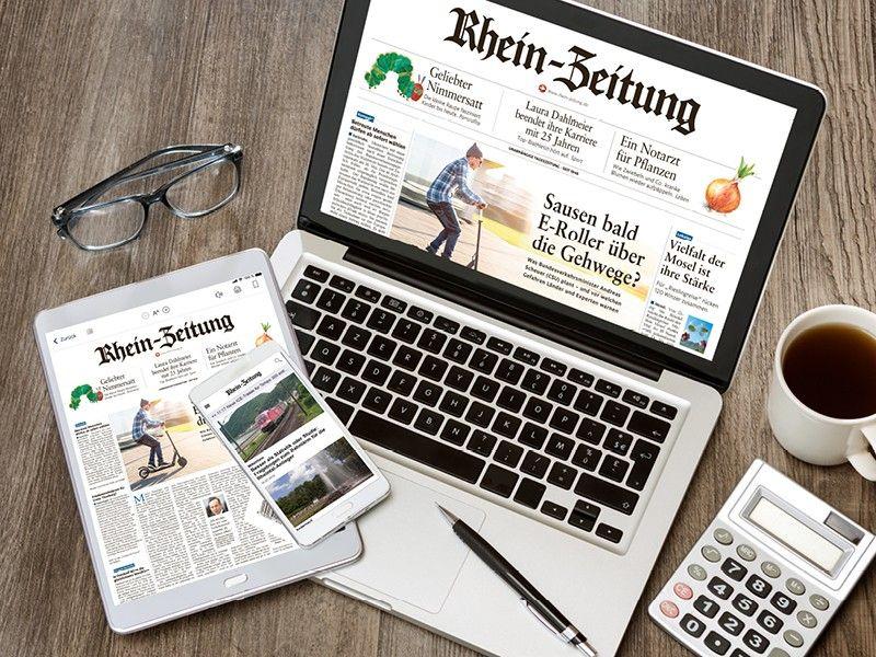 Rhein-Zeitung als E-Paper für 4 Wochen für 21,50€ mit 20€ Dm-Gutschein