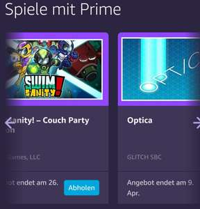 Swimsanity - Couch Party Edition und Optica kostenlos bei Prime Gaming