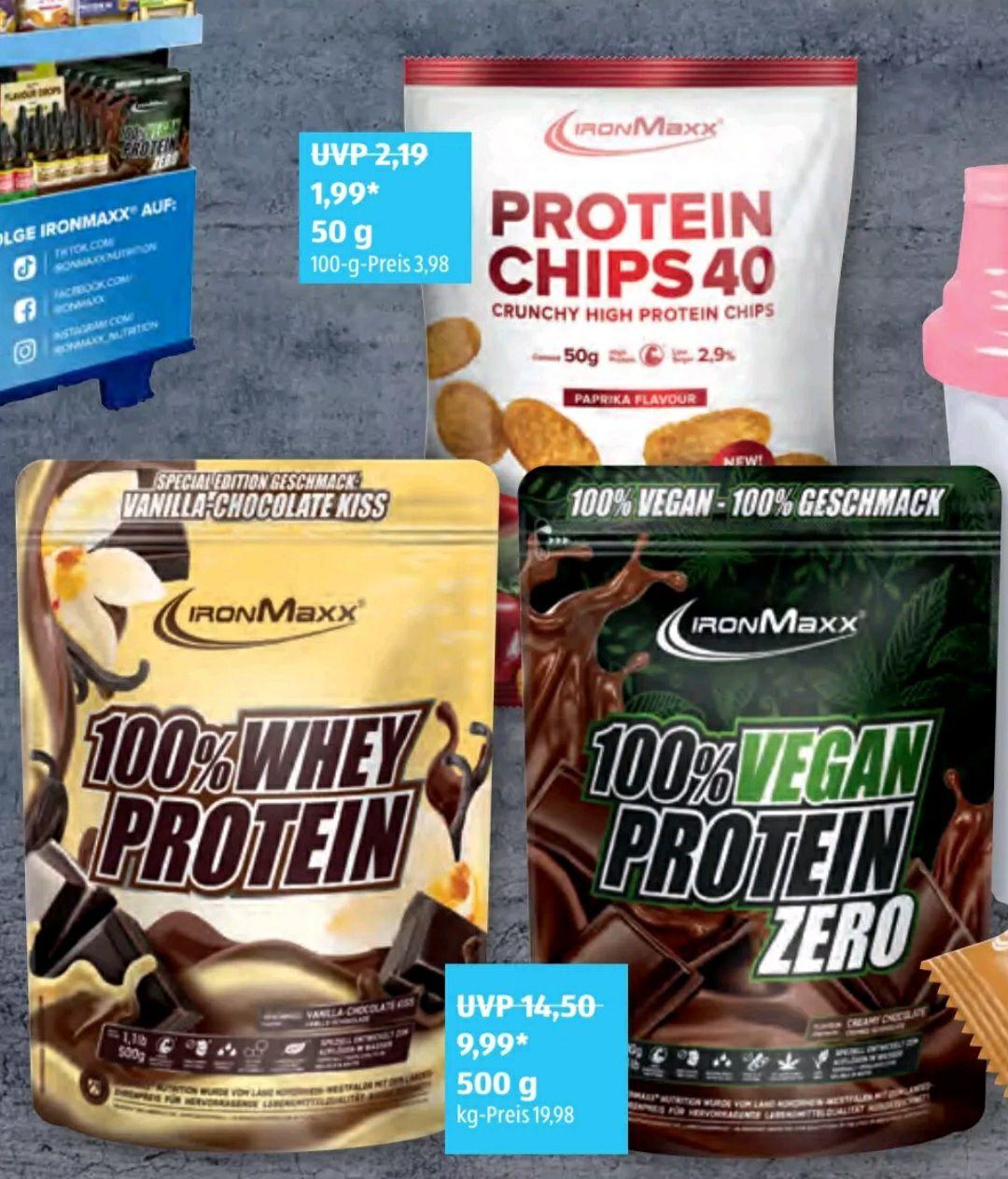 [Aldi Süd] IronMaxx Sammeldeal z.B. 100% Whey Protein 500g für 9.99€ statt für 11.80€