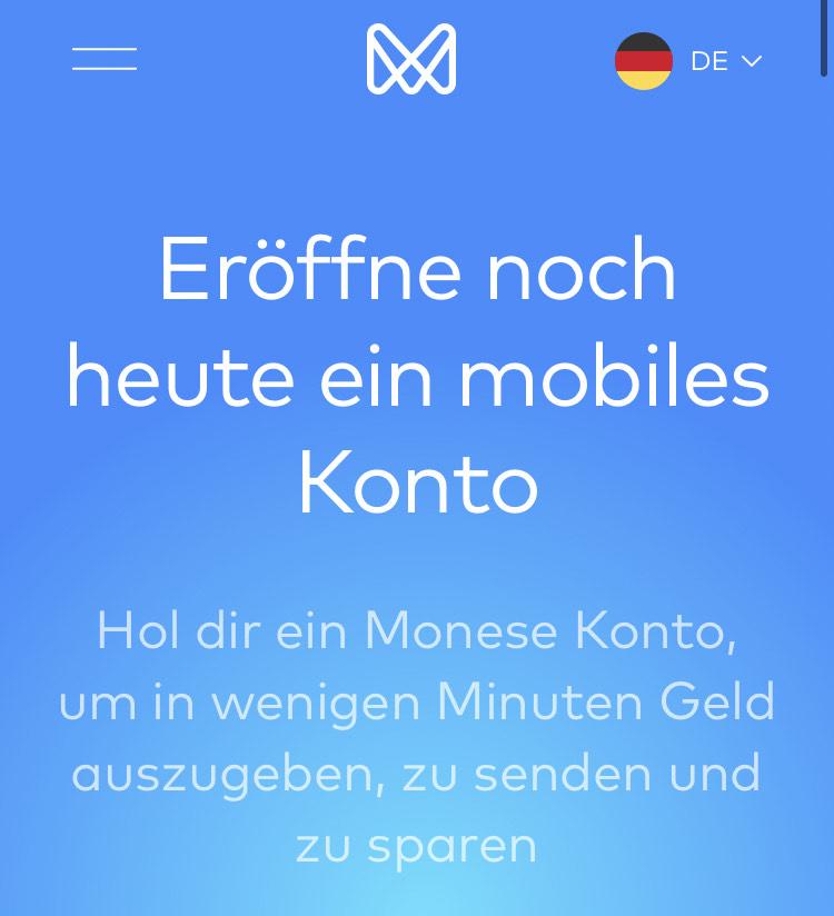20€ Gewinn mit kostenlosem Monese Konto