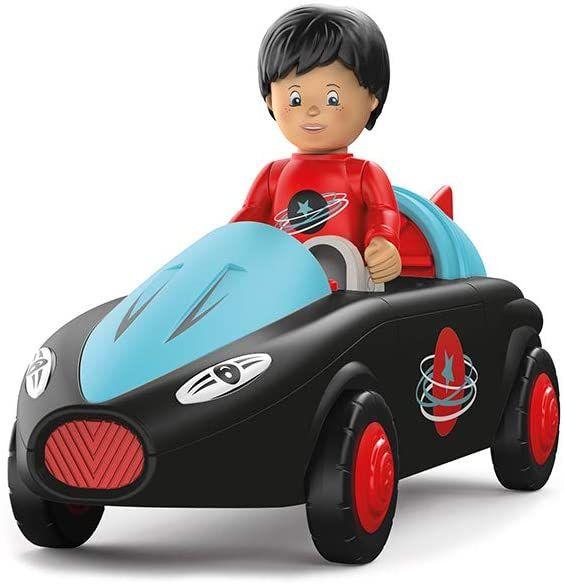 Toddys by siku 0115, Sam Speedy, 3-teiliges Spielzeugauto mit Licht und Sound, Zusammensteckbar, Inkl. beweglicher Spielfigur