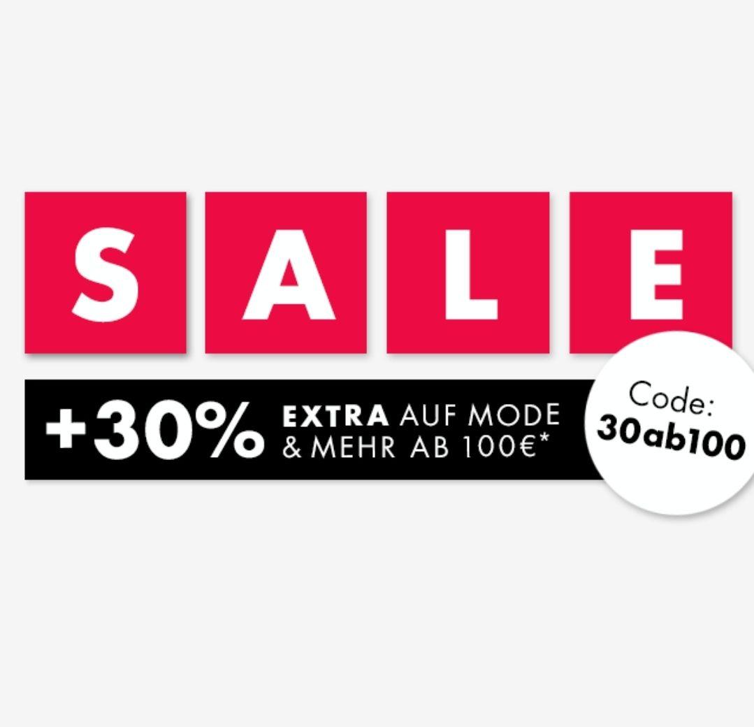 Galeria Kaufhof 30% auf bereits reduzierte Mode & mehr ab 100€
