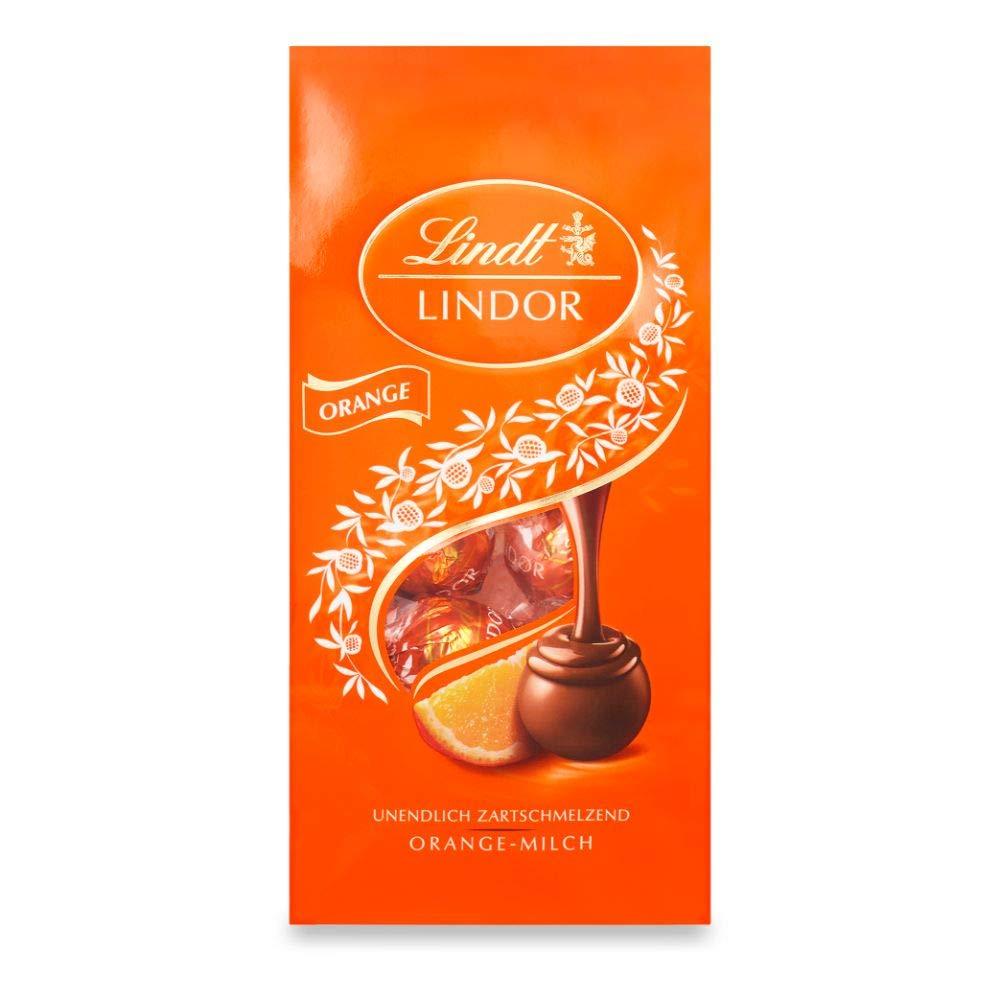 [Prime Sparabo] 5 x Lindt Lindor Orange-Milch-Schokoladenkugeln,ca. 10 Kugeln, 137g (macht zusammen 0,685kg, 12,20€/Kg)
