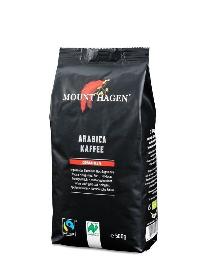 [Amazon] Mount Hagen Röstkaffee gemahlen FairTrade, Bio, Naturland (5 x 500 g) im Sparabo