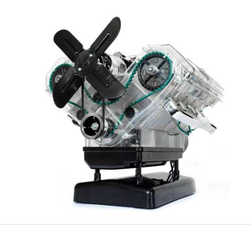 V8-Motor - Der große Technikbausatz ( Detailgetreues und funktionsfähiges Modell, Soundmodul mit Original-V8-Sound, 250 Bauteile )