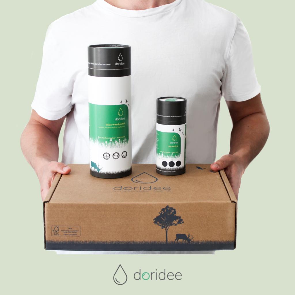 Lagerverkauf Doridee (nachhaltiges Waschmittel) z.B. Starter Box 9,99 anstatt 15,99