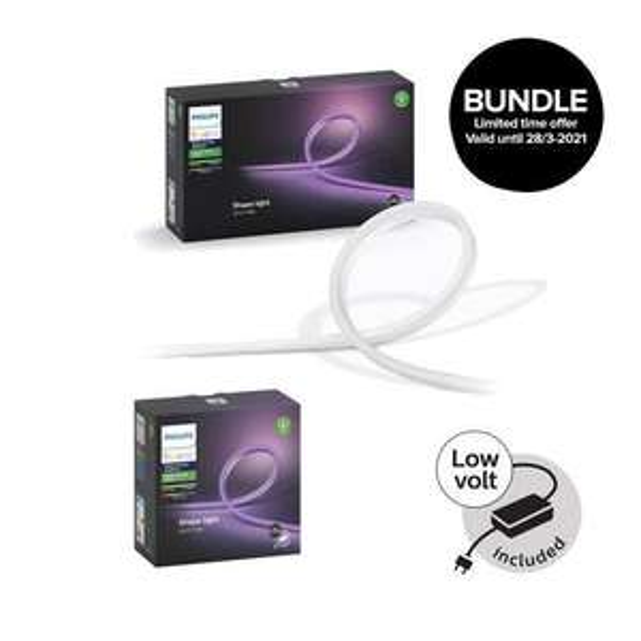 Philips Hue Angebote @Coolshop - z. B. Outdoor Lightstrip 5m +2m Bundle | 3% Shoop möglich [Sammeldeal]