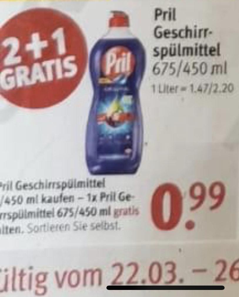 Rossmann - 15x Pril für 4,90€, zusätzlich nochmal 10% möglich, gültig ab 22.03.2021