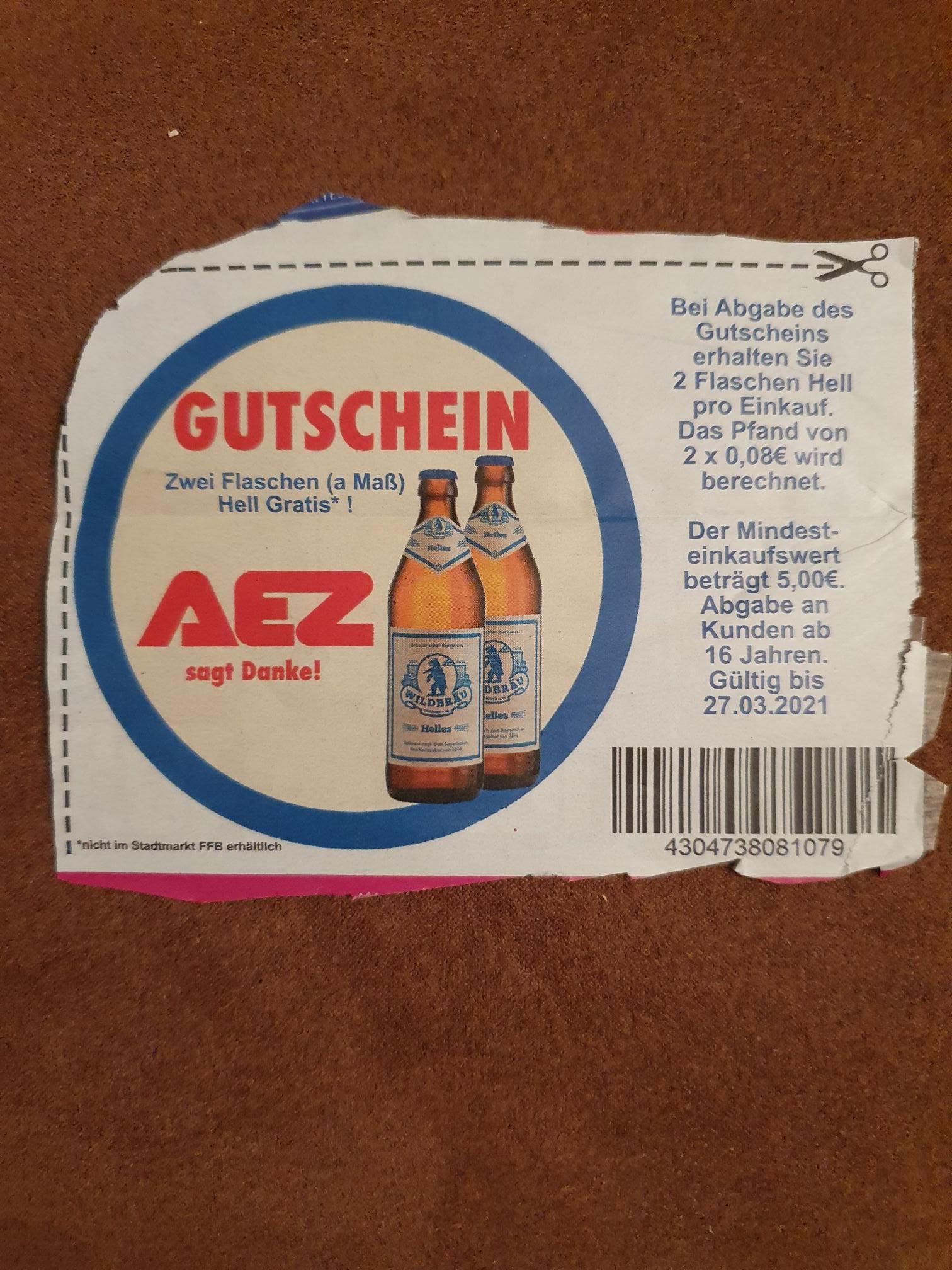 [Lokal München?] AEZ Gutscheinfehler 2 Flaschen Helles kostenlos
