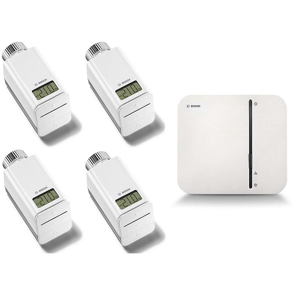 BOSCH Smartes Heizen Starterset Thermostate Controller (App Steuerung, kompatibel mit Apple Homekit, Amazon Alexa und Google Assistant)