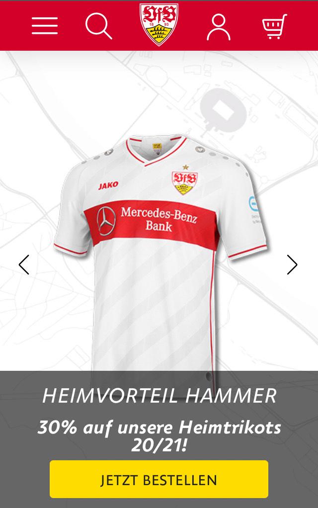 VfB Stuttgart Trikot -40% mit gratis spielerflock