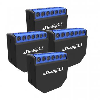 4er Pack Shelly 2.5 (17,95€/Stk.) Wi-Fi WLAN Schaltaktor SmartHome