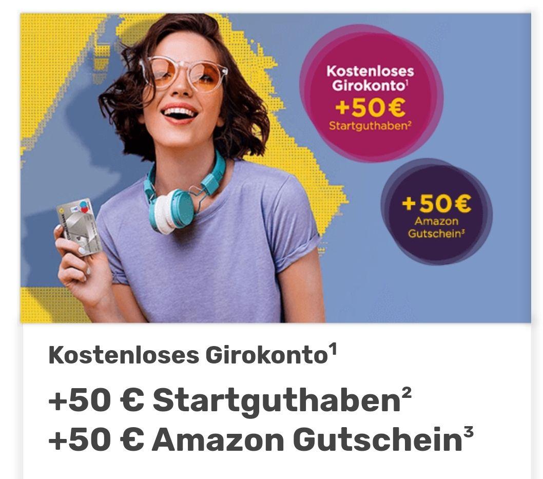 50€ Startguthaben für die Eröffnung des Commerzbank Girokontos + 50€ Amazon Gutschein [NEUKUNDE]