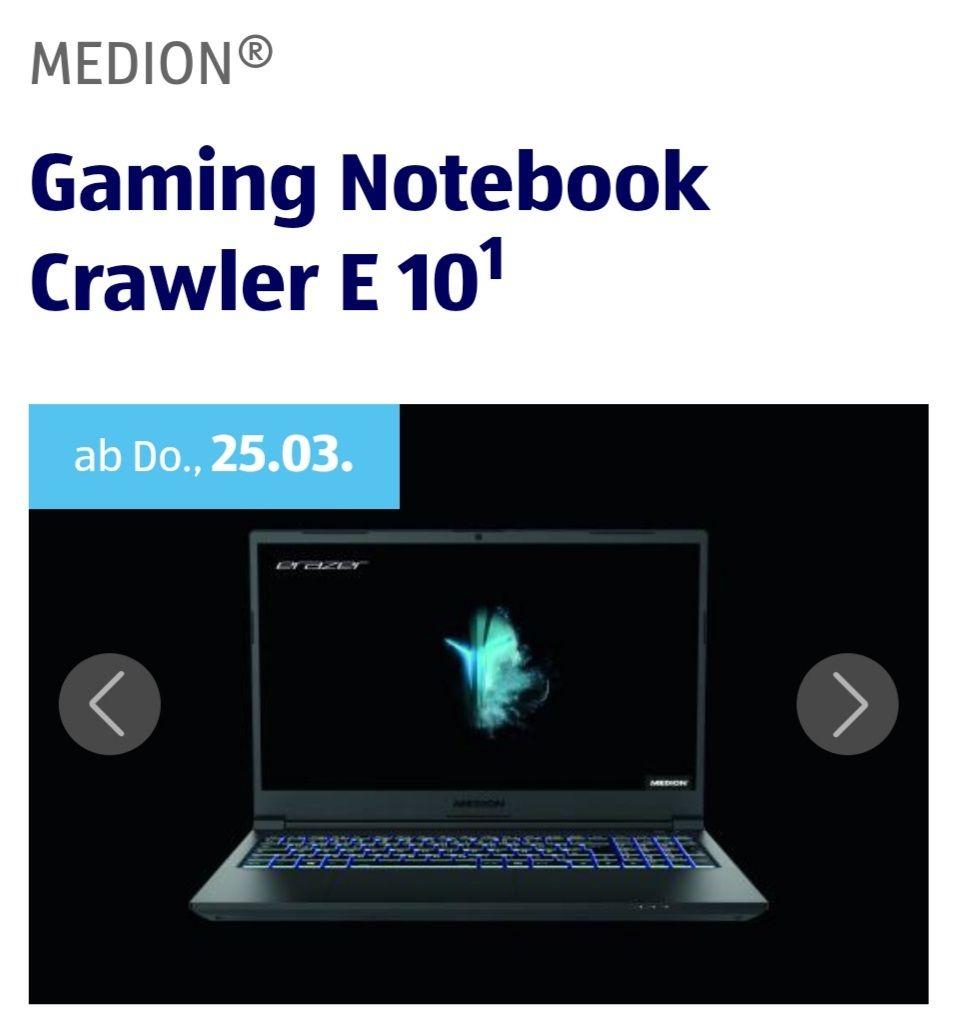 MEDION® Gaming Notebook Crawler E 101, 16 GB DDR4 RAM, 1TB PCIe SSD ab 25.03 ab 8 Uhr Aldi Süd Online