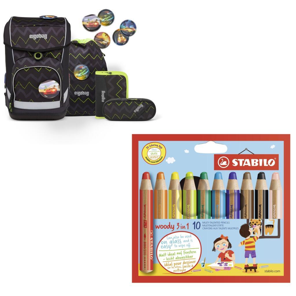 20% auf Schreibwaren, z.B. Stabilo Woody 3in1 10er für 9,43€, ergobag Cubo light Schulranzen-Set 200 BärStärke für 199,99€