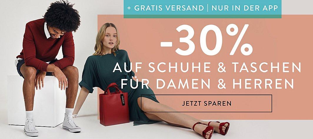 MEGA RABATT: -30% Auf Schuhe und Taschen für Damen und Herren+Gratis Versand [Nur in der App]