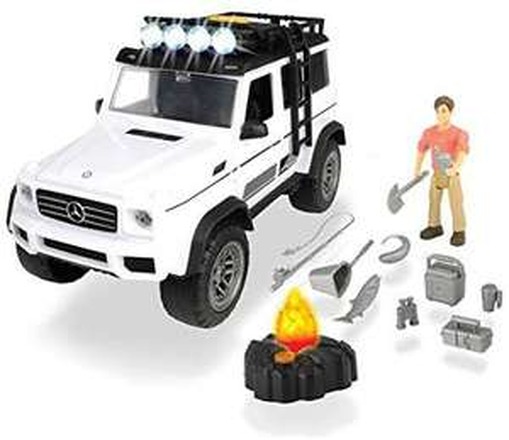 [Amazon-Marketplace] Dickie-Toys-Sammeldeal, z.B. Playlife Adventure Set, Mercedes Benz G-Klasse AMG, 23 cm, Farbe weiß