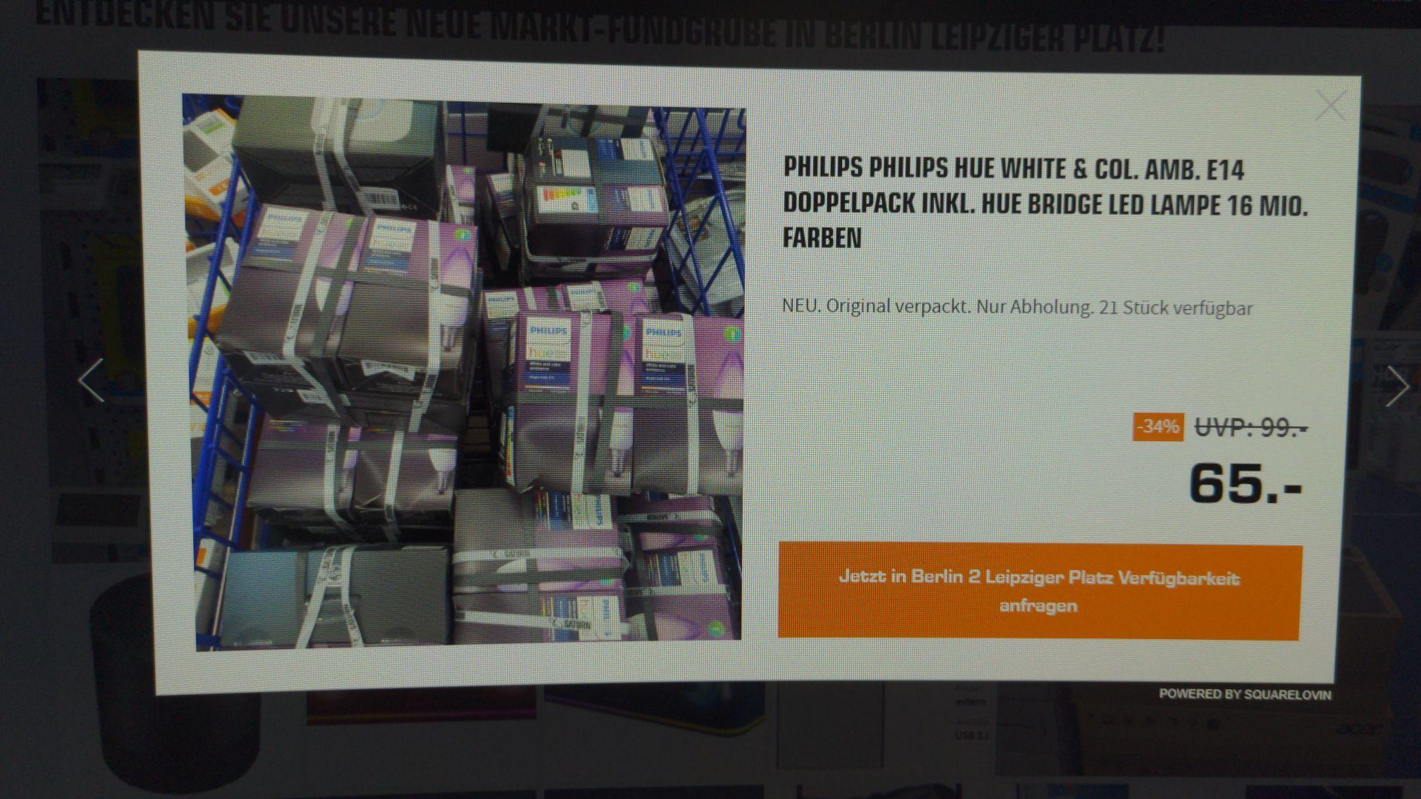 Lokal - Philips Hue E14 Color Doppelpack inkl. Bridge - Saturn Berlin Mall of Berlin