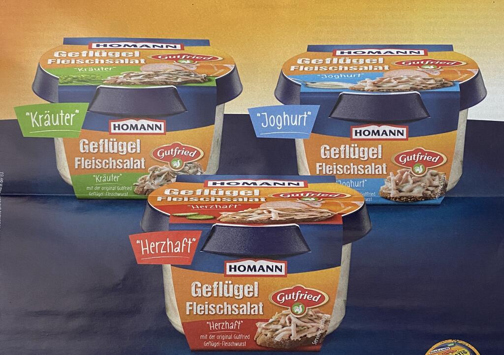 GzG - Homann Fleischsalat, verschiedene Sorten, vom 12.04.21 bis 30.09.21