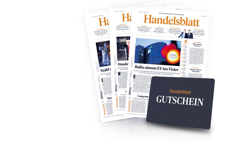 Handelsblatt Print 3 Wochen kostenlos (15 Ausgaben), Kündigung notwendig