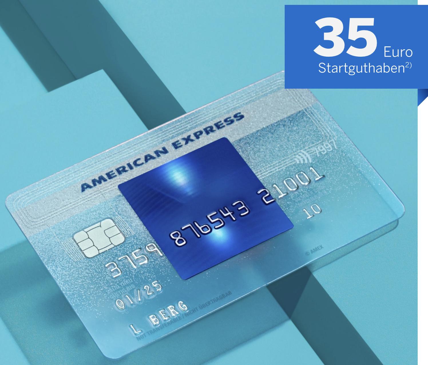 Amex Blue mit 35€ Startguthaben + bis zu 490€ Preisvorteile möglich - dauerhaft ohne Jahresgebühr!