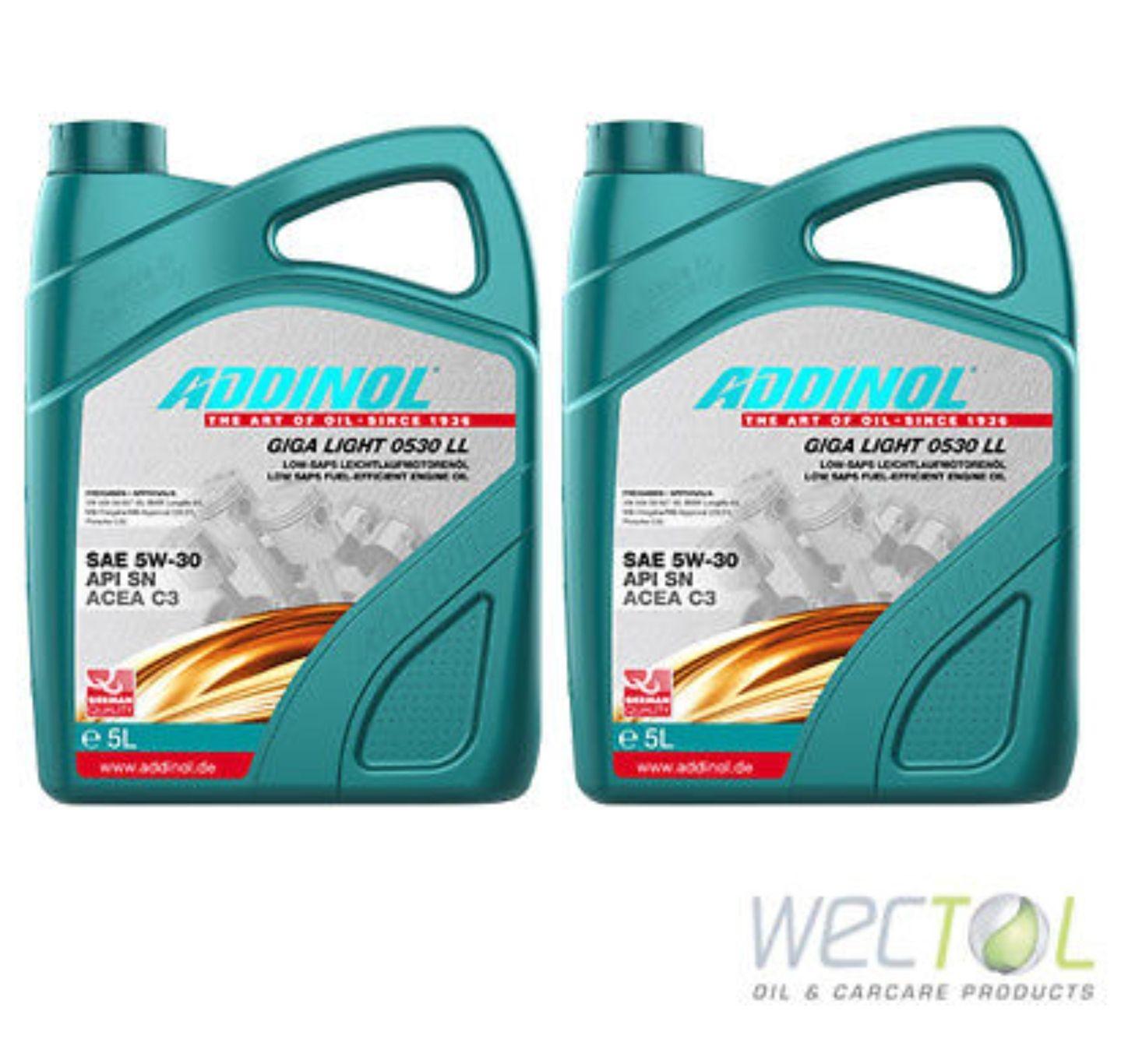 [Ebay] 10 L 10 Liter Addinol GIGA LIGHT MV 0530 LL 5W-30 Motoröl für viele VW Audi MB 2x5