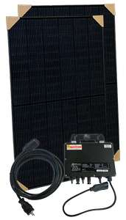 Balkonkraftwerk Mini PV Solar Set 670W Trina Full Black + APSystems YC600 Microwechselrichter für 510€ (Abholung NRW) / Spedition 575€