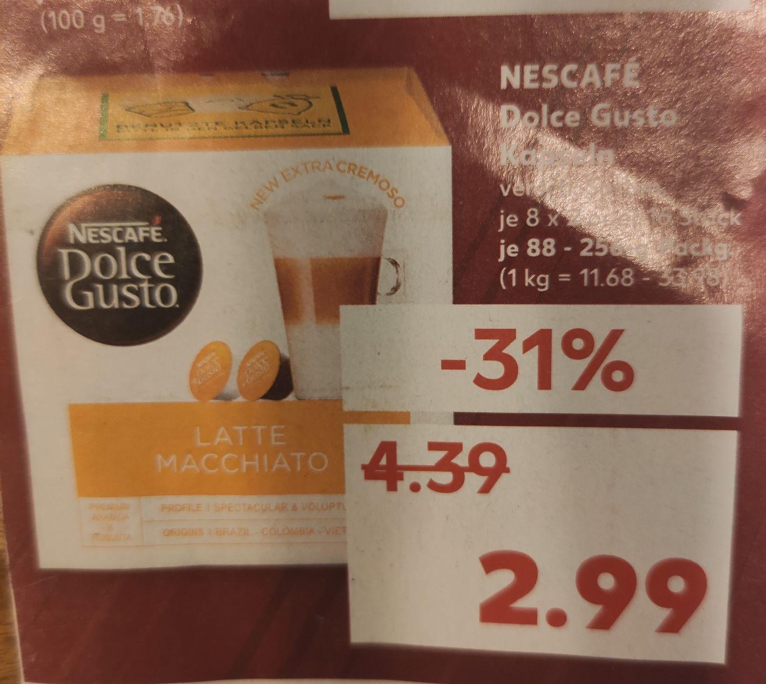 (Lokal Kaufland AC) Nescafe Dolce Gusto Kapseln 3 Packungen für 3,97€ möglich