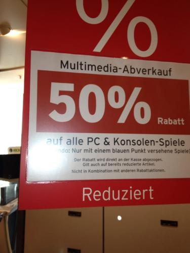 [lokal] Karstadt Lübeck. 50% auf alle PC und Konsolenspiele
