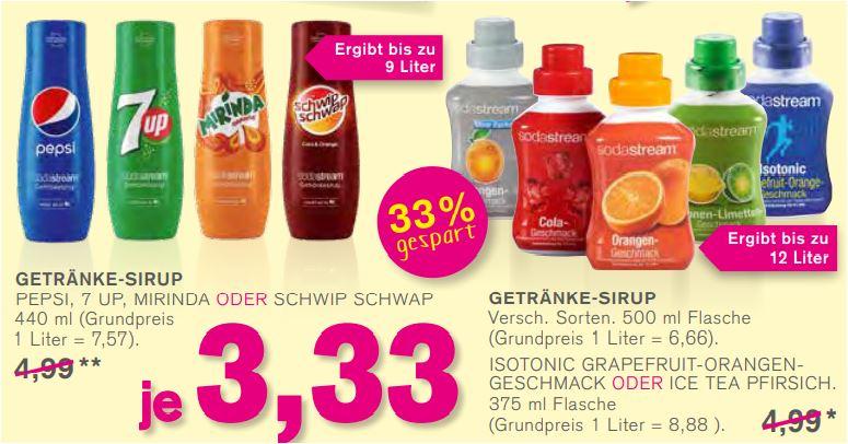 SodaStream Getränke-Sirup, verschiedene Sorten für je 3,33 Euro [Kodi]