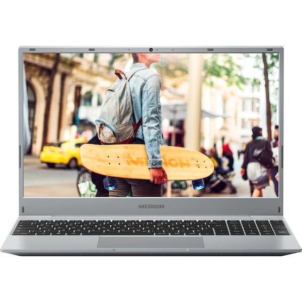 MEDION AKOYA Laptop E15408, Intel® Core™ i5-1035G4, Windows 10 Home, 39,6 cm 15,6'' FHD IPS Display, 256 GB SSD, 8 GB RAM,