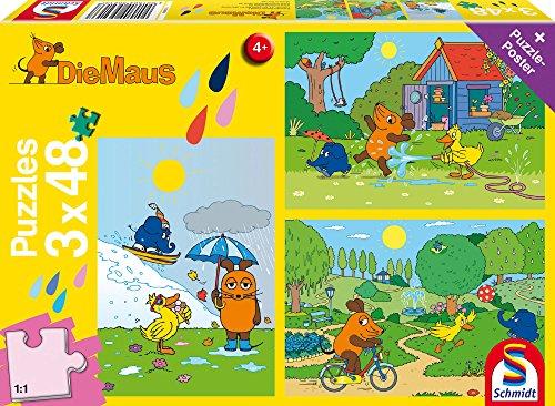 [Prime] Schmidt Spiele 56213 Kinderpuzzle Die Maus, 3x48 Teile