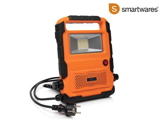 Ibood: Smartwares FCL 76012 Led- Baustrahler /20 Watt / 1700 Lumen/ mit Bluetooth Lautsprecher. Für Außen geeignet IP44