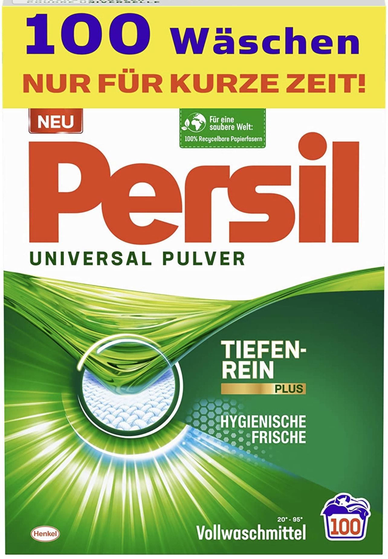 (Prime Abo) Persil Universal Pulver, Vollwaschmittel, 100 Waschladungen
