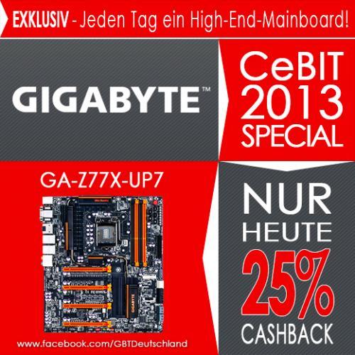 GIGABYTE CeBIT 2013 Special: 25% Cashback