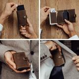 MAGATI Slim Wallet ZILA - Kreditkartenetui (Platz für 11 Karten) mit Münzfach - Geldbörse aus Echtleder mit Geldscheinfach und RFID-Schutz